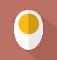 Boiled Egg Flat Design Icon vector image