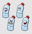 bottle cartoon character expression vector image