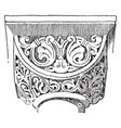 Capital ionic vintage engraving