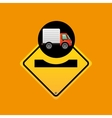 caution traffic sign concept vector image vector image