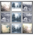 Christmas Blur Background Set vector image vector image