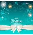 Christmas Glossy Star Background with Ribbon vector image
