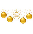 christmas greeting card or horizontal banner vector image vector image
