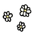 comic cartoon flowers vector image vector image
