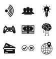 computers progress icons set simple style vector image vector image