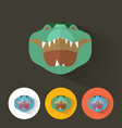 crocodile portrait with flat design vector image vector image