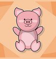 cute piggy baby animal cartoon image vector image