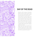 day of the dead line pattern concept vector image vector image
