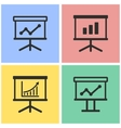 Diagram board icon set vector image vector image