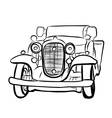 Drawing of old vintage car vector image