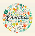 education school icon quote in french language vector image vector image