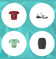 flat icon dress set of casual stylish apparel vector image vector image