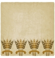 golden sheafs wheat with ribbons on vintage vector image