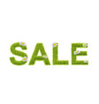 green grass sale vector image vector image