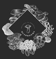 hand drawn mushroom design template on chalk vector image
