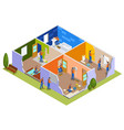 home repair isometric composition vector image