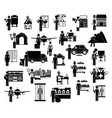 icon set working people vector image vector image