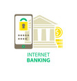 internet banking icon vector image
