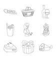 isolated object of food and drink symbol vector image