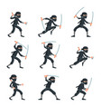 japanese secret assassin cartoon ninja characters vector image vector image