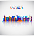 las vegas skyline silhouette vector image vector image