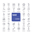 line icons set bar vector image vector image