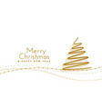 merry christmas hand drawn tree background vector image