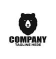 modern grizzly bear logo vector image vector image