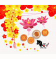 oriental chinese new year background with lantern vector image