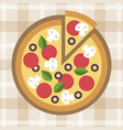 pizza flat style vector image vector image