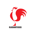 Red rooster symbol New Year 2017 vector image