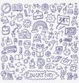 school education - doodle set vector image vector image