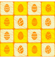 seamless background with Easter eggs vector image vector image