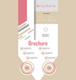 set of business brochure flyer design layout vector image vector image