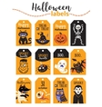 Set of vintage Happy Halloween badges and labels vector image vector image