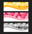 Set of wave background banner or header vector image