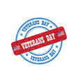 sign veterans day on background vector image vector image