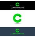 simple green letter c logo vector image vector image