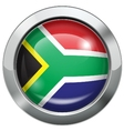South African flag metal button vector image vector image