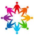 star of colorful people pictograph vector image