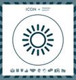sun line icon vector image vector image