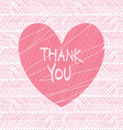 thank you hand draw card vector image vector image