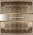 the golden invitation vintage floral pattern vector image