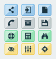 user icons set with file hide log in and other vector image vector image