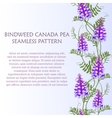 Vertical border seamless pattern wildflowers vector image vector image
