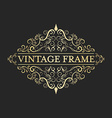 vintage golden frame in style calligraphic vector image