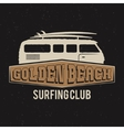 Vintage Surfing club tee design Retro t-shirt vector image vector image