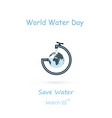 water drop and water tap icon with globe icon vector image vector image