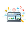 web analytics and information business strategy vector image