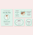 wedding invitation templates greeting cards vector image vector image